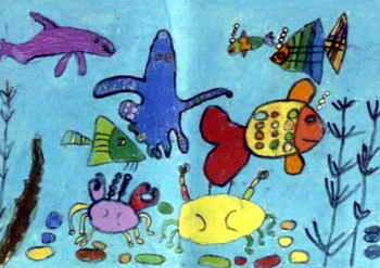 《海底世界》儿童画(五)8幅(第4页)