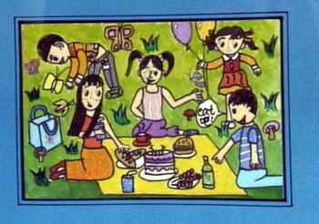 《野餐开始了!》儿童画图片