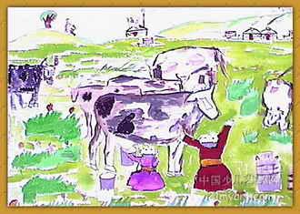 爱家乡 儿童画4幅