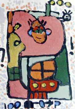 《线·家》儿童画作品欣赏