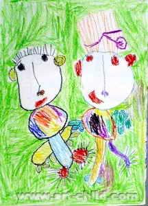 《齐心协力消灭蚊子》儿童画图片图片