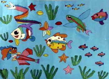 《海底世界》儿童画属于水粉画