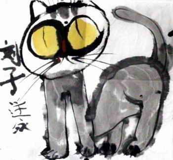 儿童画画大全 儿童水墨画  《小猫咪》儿童画4幅下载说明:在图片上