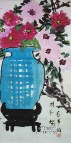儿童水墨画梅花树