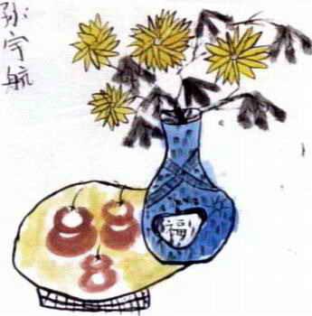《菊花》儿童画8幅(第7页)