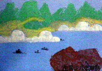 《祖国山河》儿童画2幅