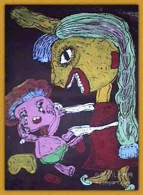 《跳新疆舞的小朋友》儿童画图片